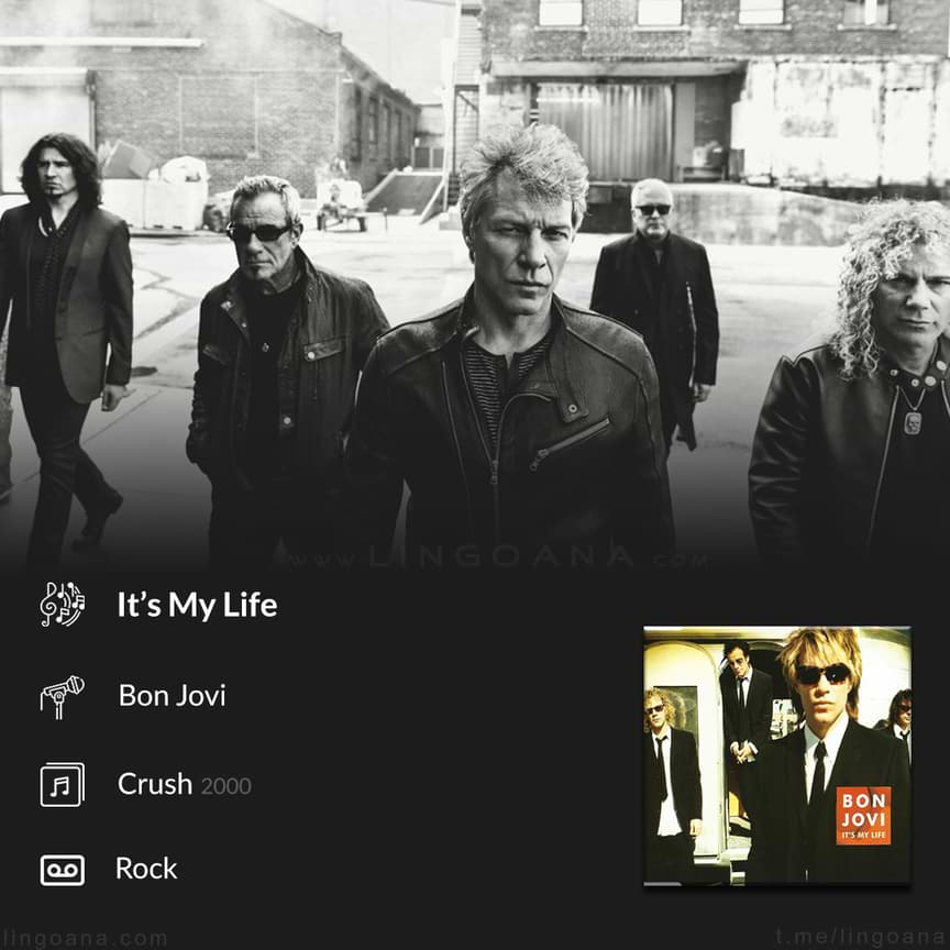 دانلود آهنگ It's my life bon jovi